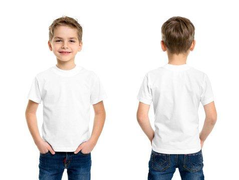 kids white T shirts