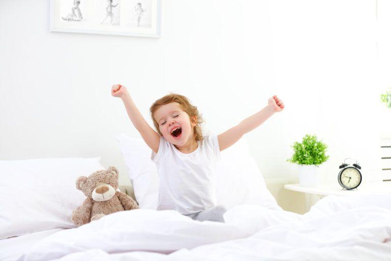 children waking